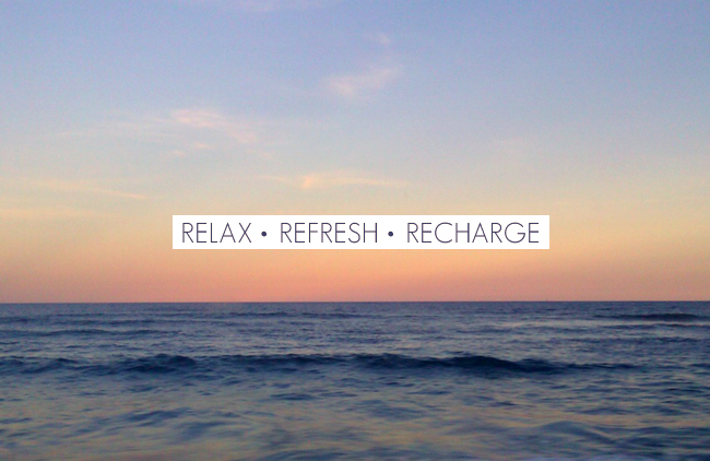 Relax, Refresh and Recharge | Nicola Tonsager